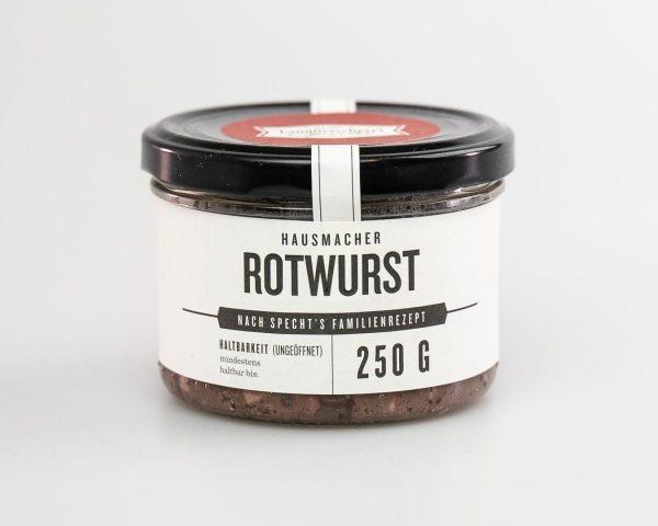 Rotwurst im Glas 250g nach Hausmacher Art