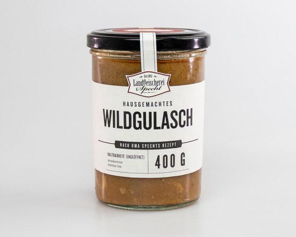 Würziger Wildgulasch 400g hausgemacht, Qualitätsfleisch