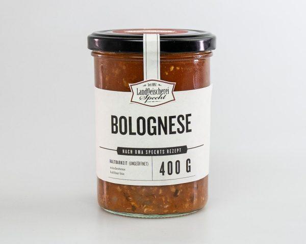 Würzige Bolognese Sauce im Glas 400g hausgemacht
