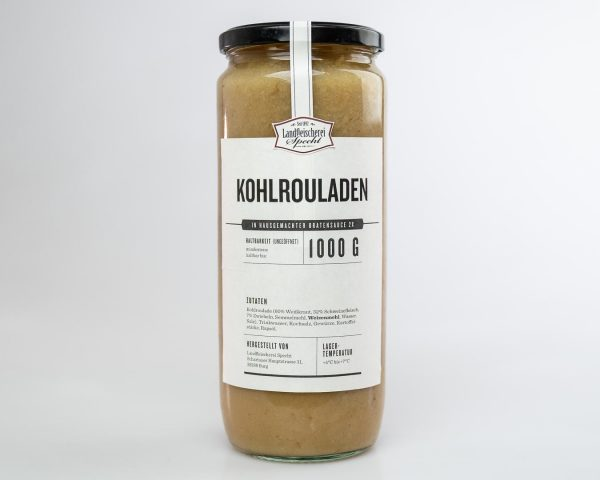 Kohlrouladen mit Bratensauce im Glas 1000g hausgemacht