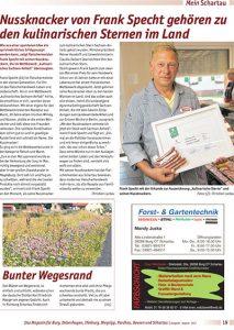 Zeitungsartikel Landfleischerei Specht mit Frank Specht